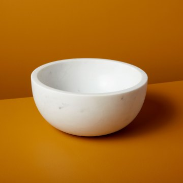 White Marble Bowl Extra Large