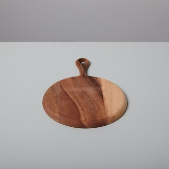 Acacia Round Board with Short Handle Small