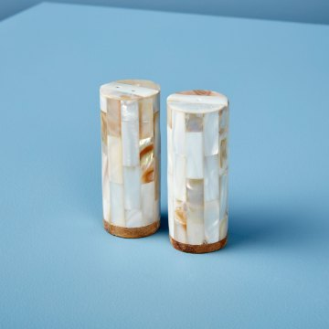 Shell Mosaic Salt and Pepper Set of 2