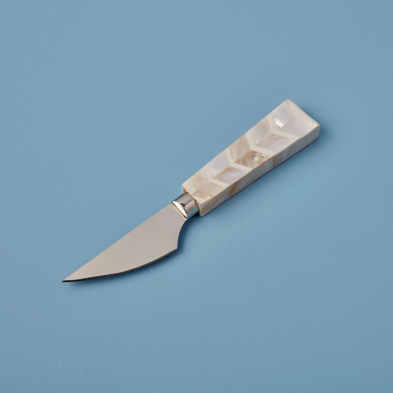Stainless Steel & Shell Mosaic Cheese Knife