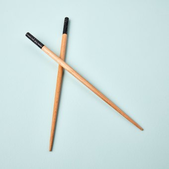 Wood with White Carving Chopstick Set