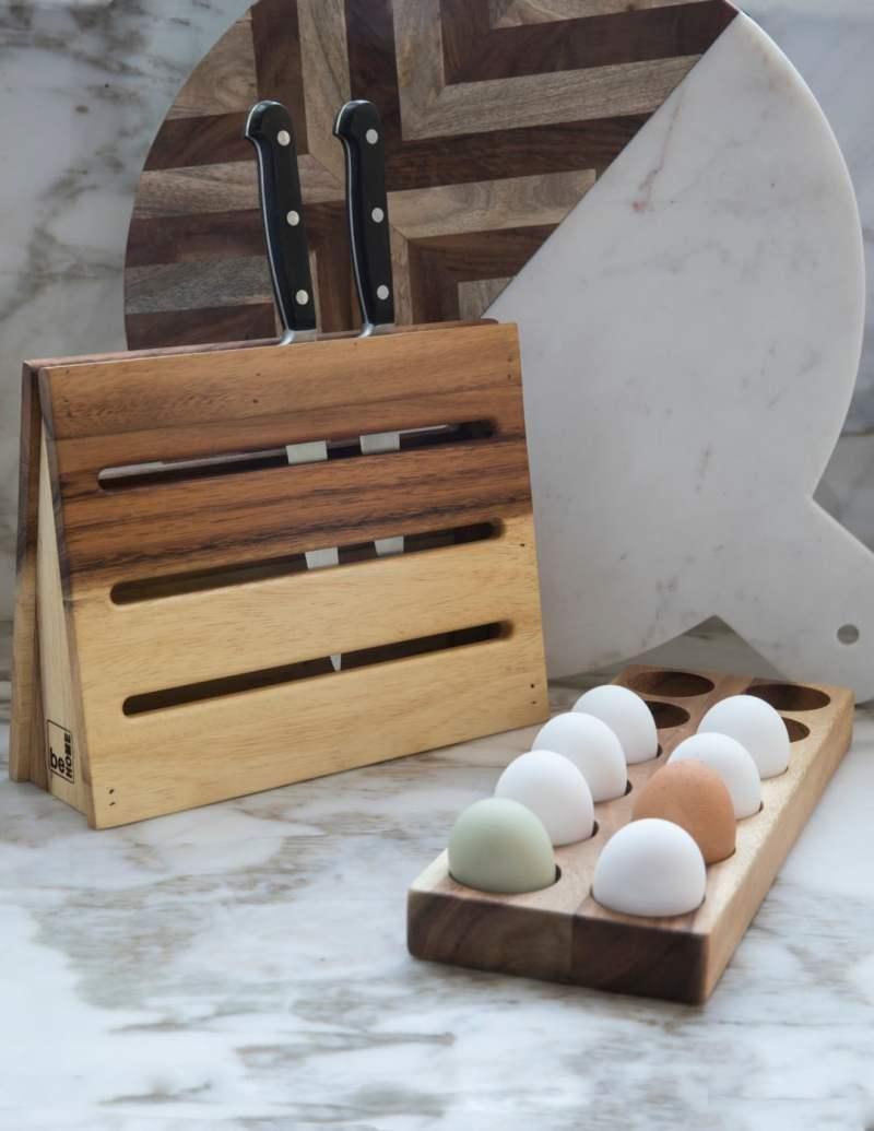 Acacia Egg Holder Dozen