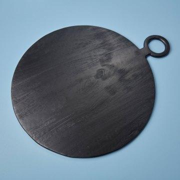 Black Mango Wood Round Board, Extra Large