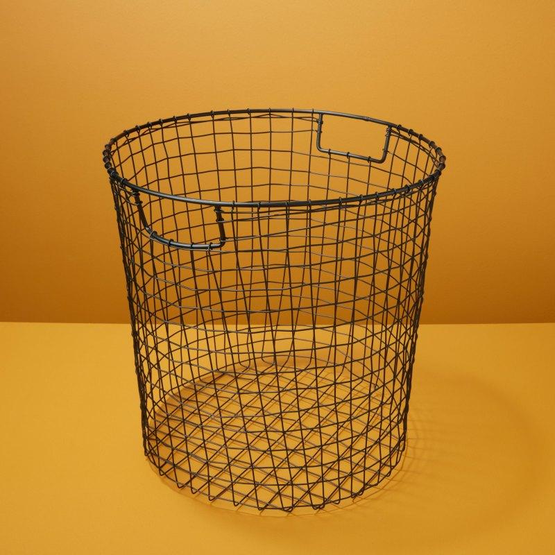 Black Round Wire Basket, Large