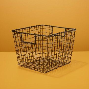 Black Square Wire Basket, Medium