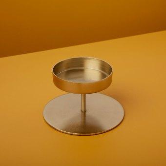 Gold Pillar Candle Holder, Tall