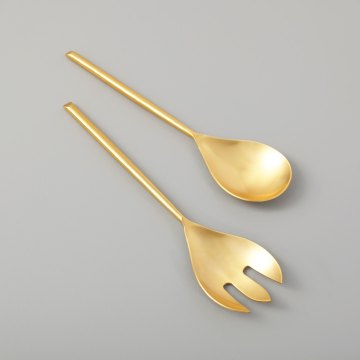 Matte Gold Serving Set