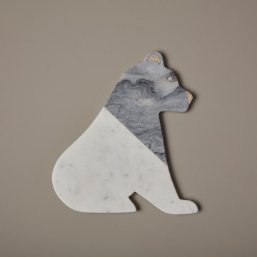 White & Gray Marble Bear Board