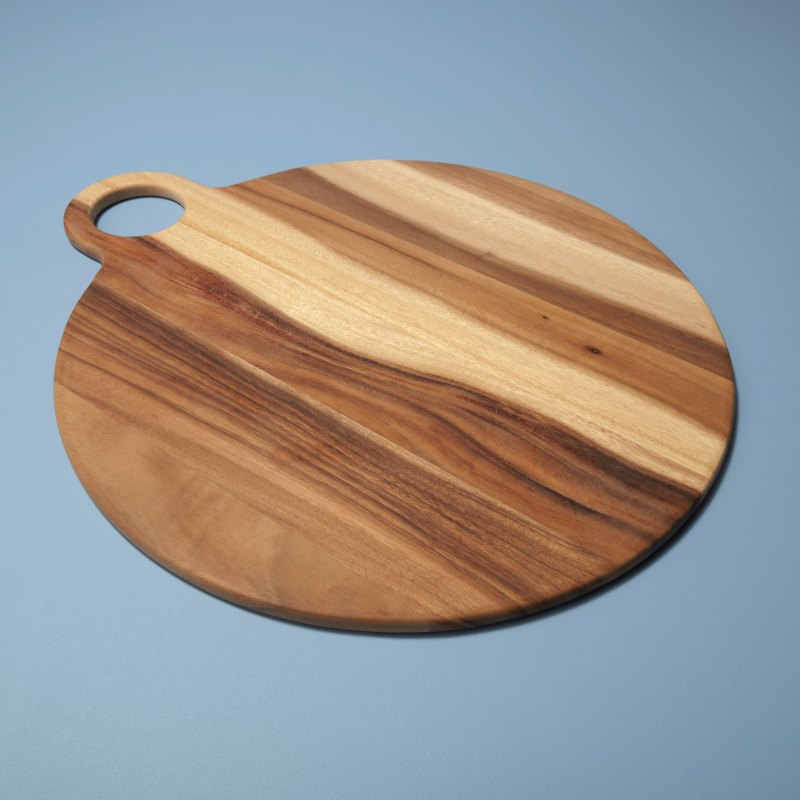 Acacia Round Board with Round Handle, Extra Large
