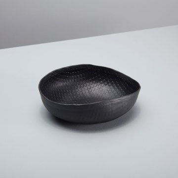Black Crosshatch Aluminum Bowl Small