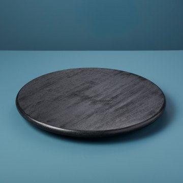Black Mango Wood Lazy Susan