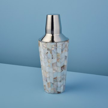 Shell Mosaic Cocktail Shaker