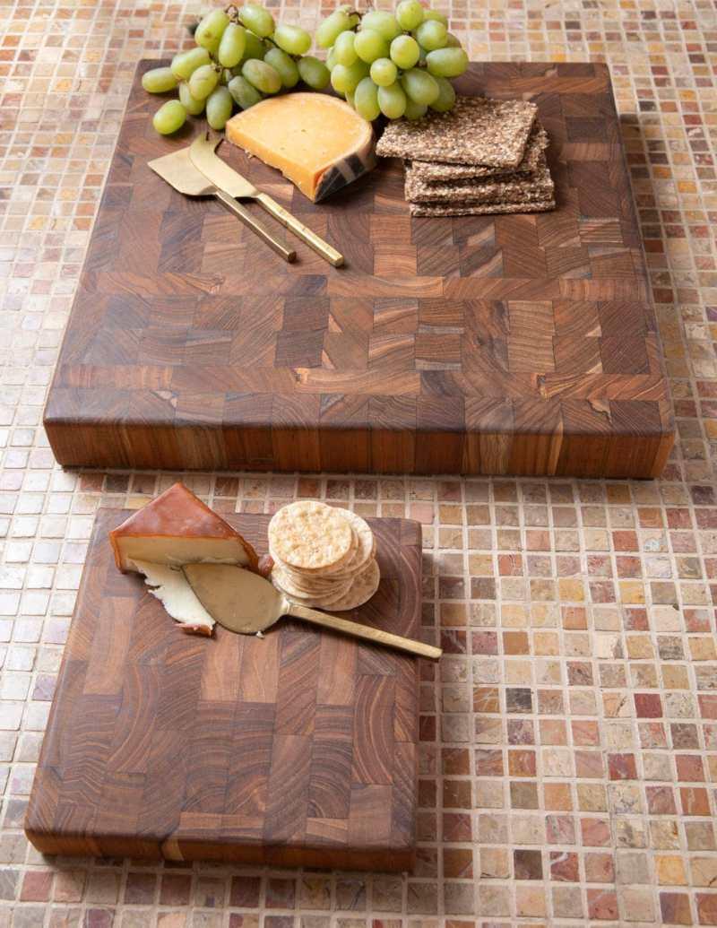 Teak End Grain Chopping Block Board, Large