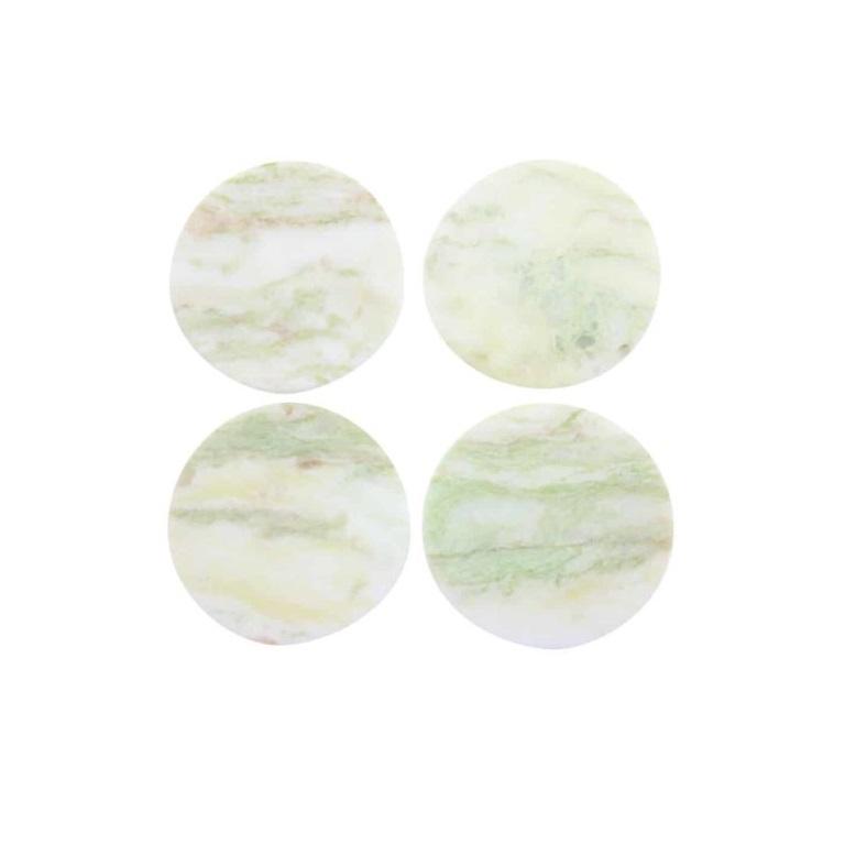 Lady Onyx Round Coasters, Set of 4