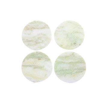 Lady Onyx Round Coasters, Set of 4