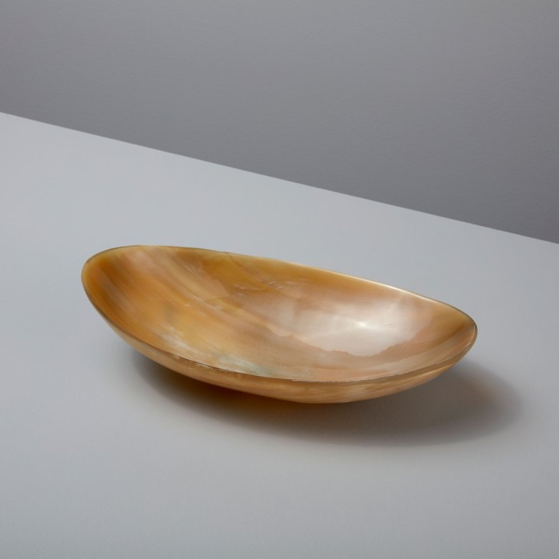 Light Horn Oval Bowl Large