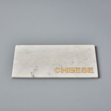 "White Marble & Gold ""Cheese"" Board"
