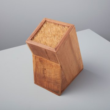 Reclaimed Wood Angled Square Knife Block