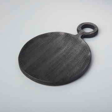 Black Mango Wood Mini Board Round
