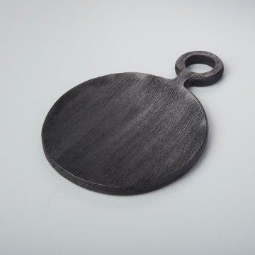 Black Mango Wood Mini Board Round