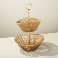 Be-Home_Gold-Rhythm-Wire-2-Tier-Basket_87-802
