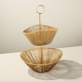 Gold Rhythm Wire Basket