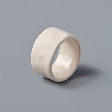 Stoneware Napkin Ring, White