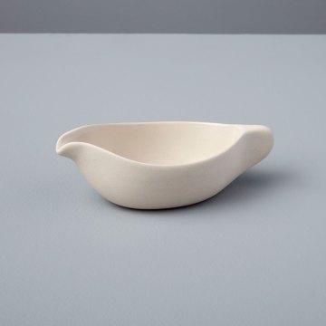 Stoneware Starling Pouring Dish, White