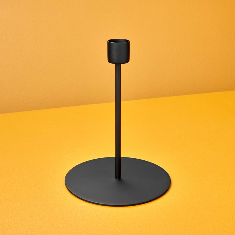 Black Taper Candle Holder, Tall