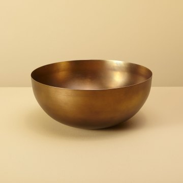 Cobbled Antique Bronze Bowl, Medium