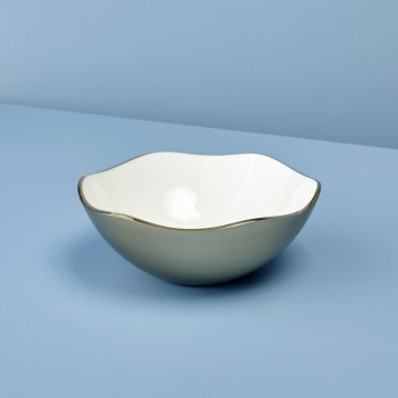Champagne & Enamel Wave Edge Bowl, Medium