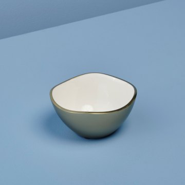 Champagne & Enamel Wave Edge Bowl, Small