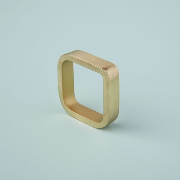 Square Napkin Ring, Gold
