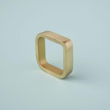 Square Napkin Ring, Gold