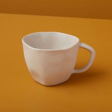Stoneware Cappuccino Cup, White