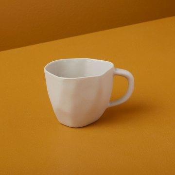 Stoneware Demitasse Cup, White