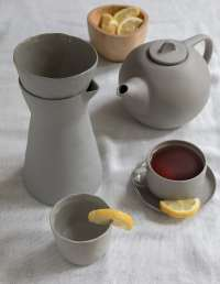 Stoneware Carafe White 3