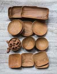 Teak Round Bowls Set of 4 4