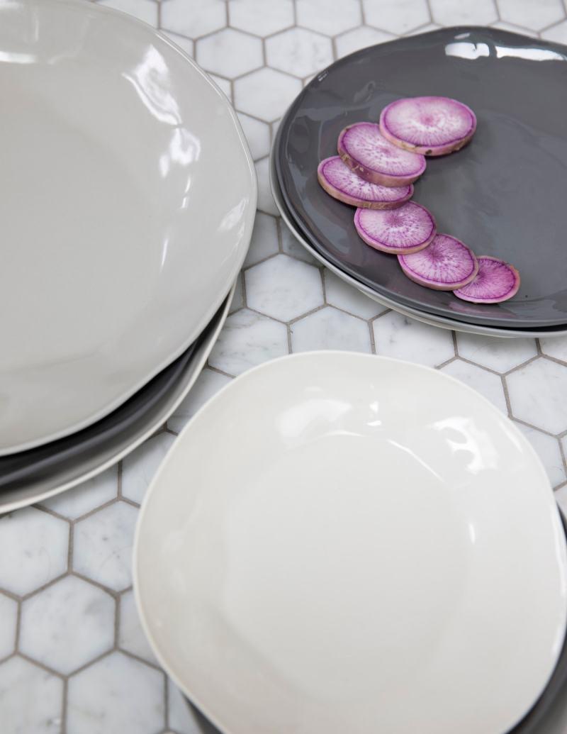 Stoneware Flat Plate Sterling Large