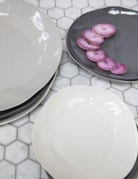 Stoneware Plate Slate, Large 2