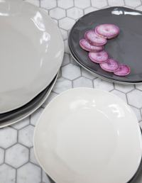 Stoneware Plate White, Large 5