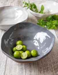 Stoneware Bowl White, Small 2