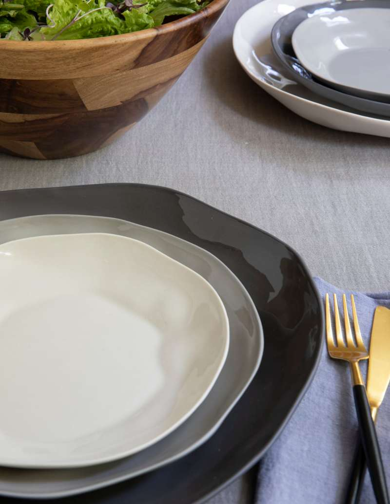 Stoneware Plate Slate, Large