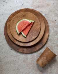 Teak Round Plate Large 4