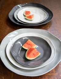 Stoneware Flat Plate White Medium 4