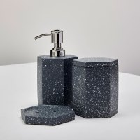 Speckled Cement Bath Canister, Slate 2