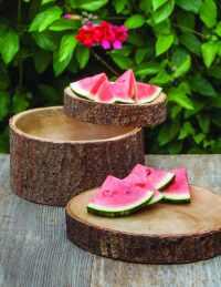 Mango Wood Salad Bowl with Bark Small 2