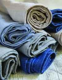 Linen Napkins Indigo Set of 4 2