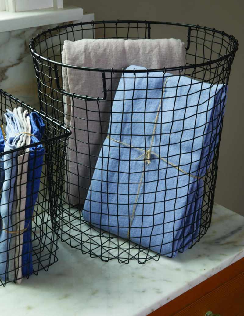 Black Square Wire Basket, Large