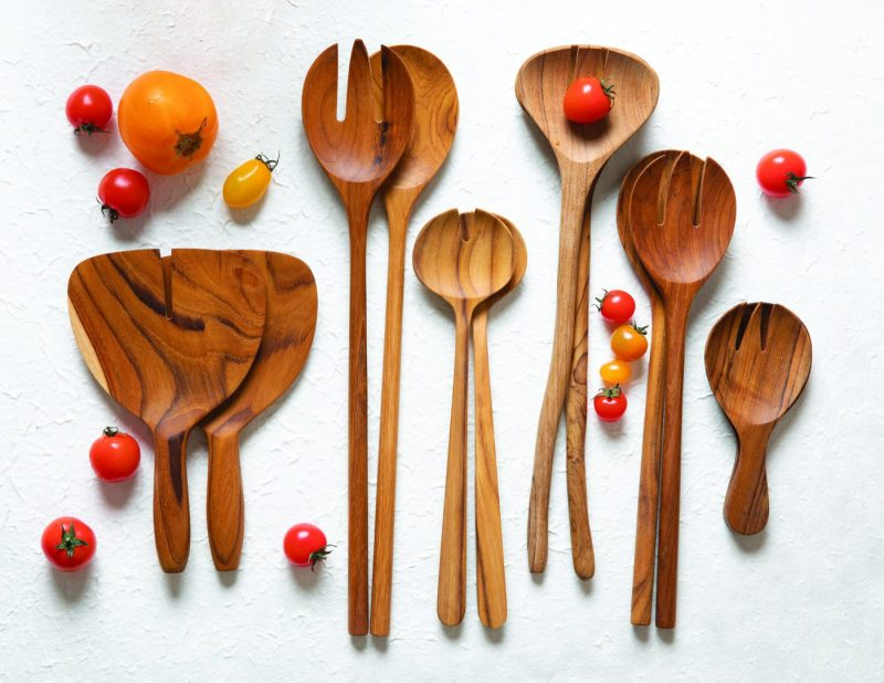 Teak Natural Shaped Serving Set